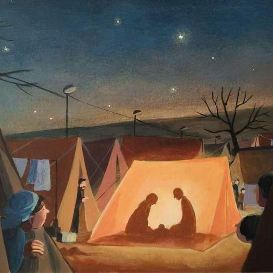 Nacimiento campo refugiados